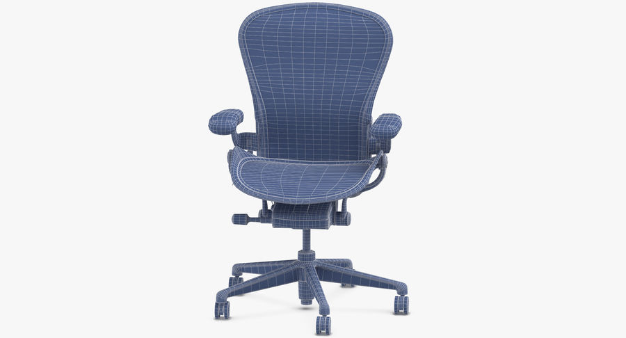 Chaise Herman Miller Aeron - 01 royalty-free 3d model - Preview no. 16