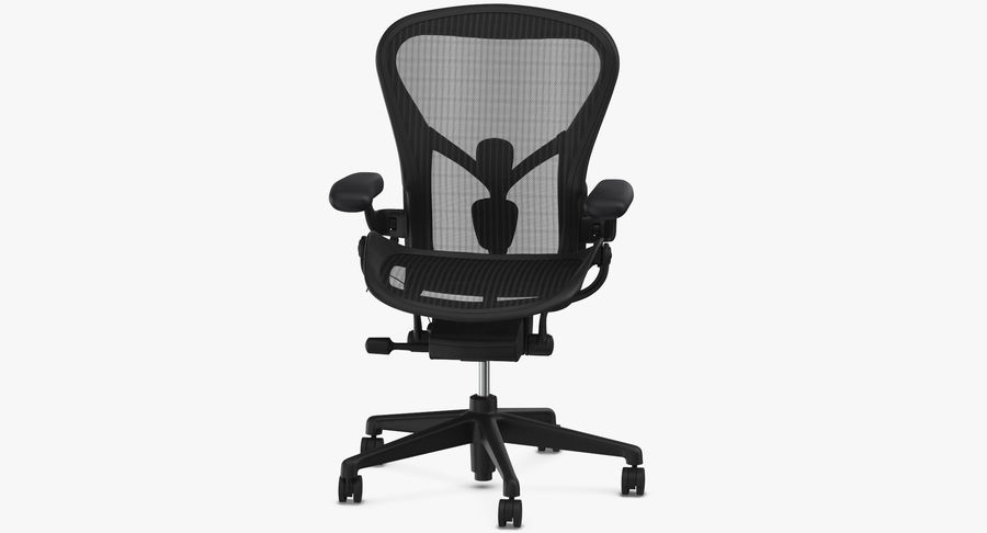 Chaise Herman Miller Aeron - 01 royalty-free 3d model - Preview no. 6