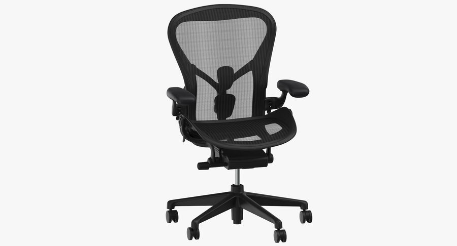 Chaise Herman Miller Aeron - 01 royalty-free 3d model - Preview no. 2