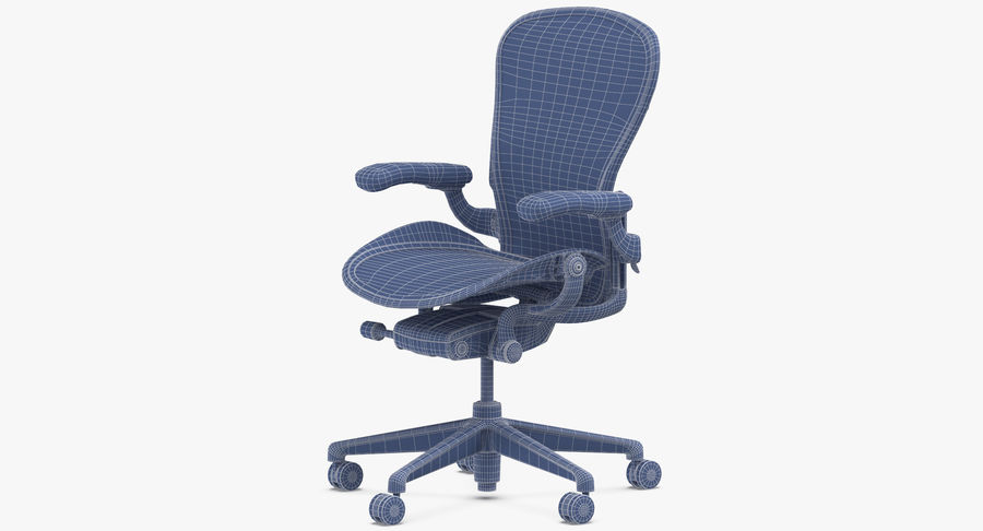 Chaise Herman Miller Aeron - 02 royalty-free 3d model - Preview no. 15