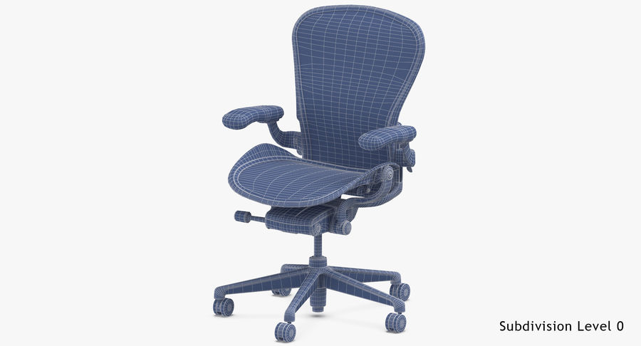 Chaise Herman Miller Aeron - 02 royalty-free 3d model - Preview no. 17