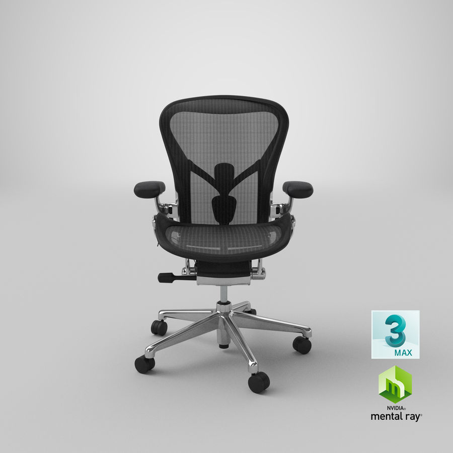 Chaise Herman Miller Aeron - 02 royalty-free 3d model - Preview no. 23