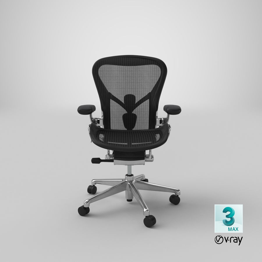 Chaise Herman Miller Aeron - 02 royalty-free 3d model - Preview no. 22