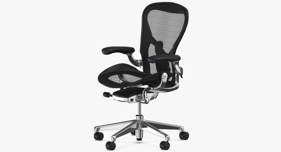 Chaise Herman Miller Aeron - 02 royalty-free 3d model - Preview no. 4