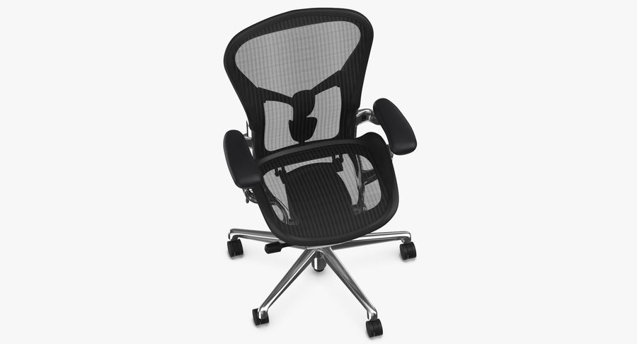 Chaise Herman Miller Aeron - 02 royalty-free 3d model - Preview no. 8