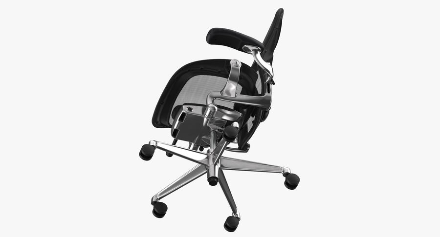 Chaise Herman Miller Aeron - 02 royalty-free 3d model - Preview no. 9