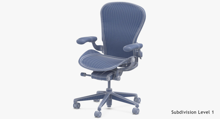 Chaise Herman Miller Aeron - 02 royalty-free 3d model - Preview no. 18