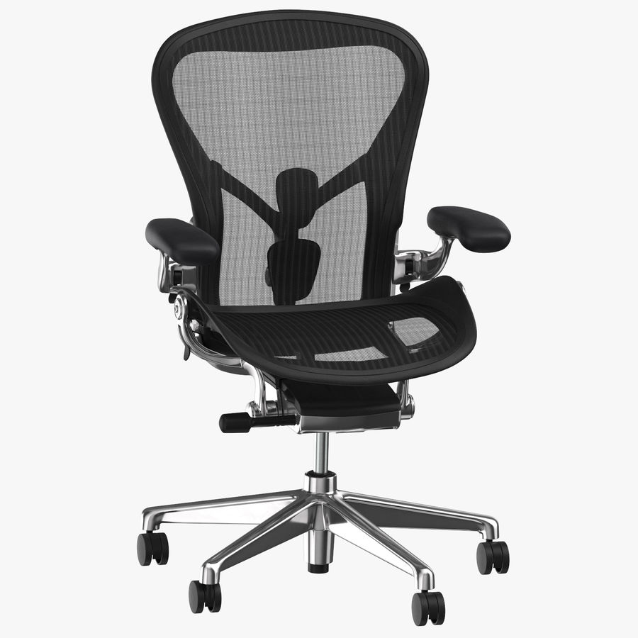 Chaise Herman Miller Aeron - 02 royalty-free 3d model - Preview no. 1