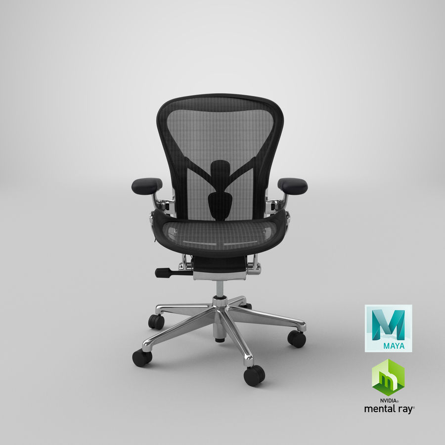 Chaise Herman Miller Aeron - 02 royalty-free 3d model - Preview no. 21