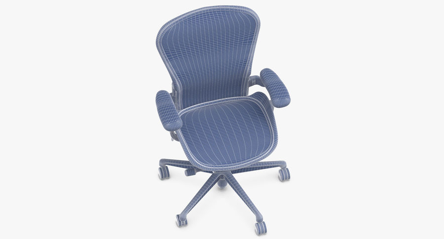 Chaise Herman Miller Aeron - 02 royalty-free 3d model - Preview no. 13