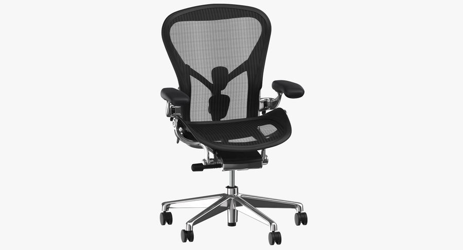 Chaise Herman Miller Aeron - 02 royalty-free 3d model - Preview no. 2