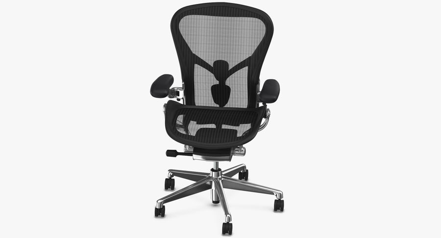 Chaise Herman Miller Aeron - 02 royalty-free 3d model - Preview no. 6