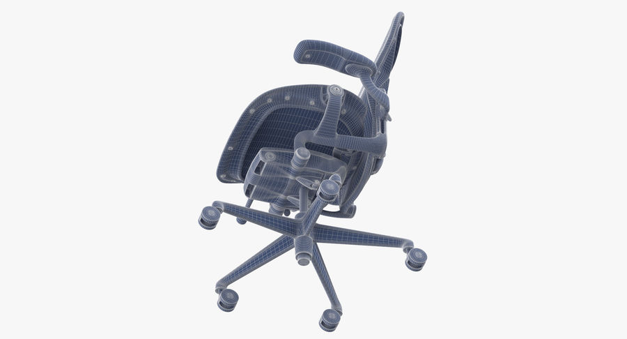 Chaise Herman Miller Aeron - 02 royalty-free 3d model - Preview no. 14