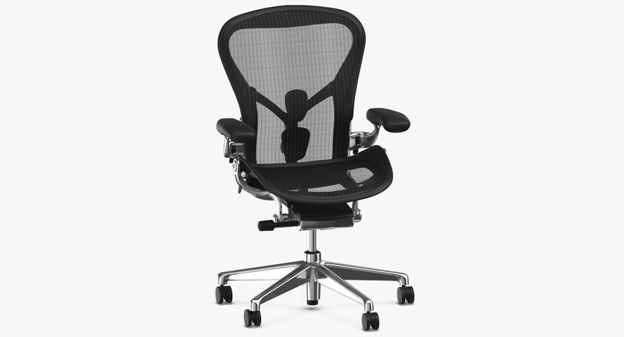 Chaise Herman Miller Aeron - 02 royalty-free 3d model - Preview no. 3
