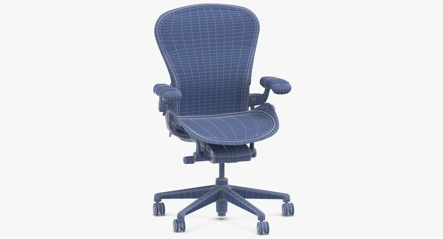 Chaise Herman Miller Aeron - 02 royalty-free 3d model - Preview no. 10