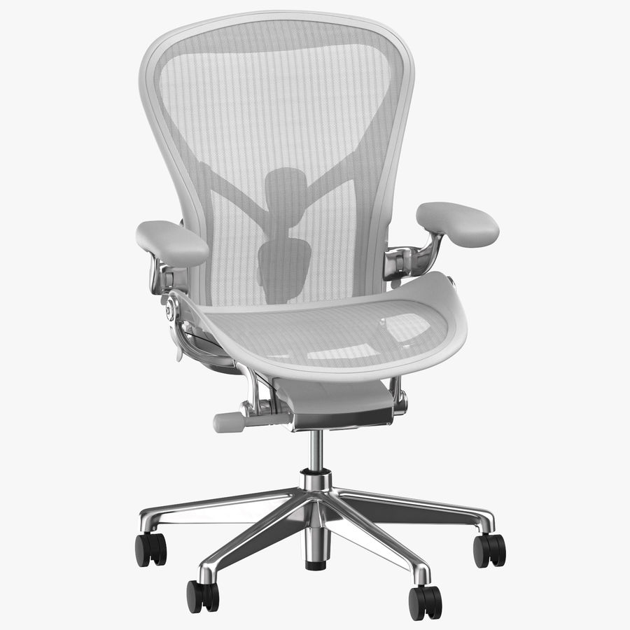 Chaise Herman Miller Aeron - 03 royalty-free 3d model - Preview no. 1