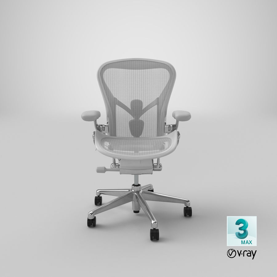 Chaise Herman Miller Aeron - 03 royalty-free 3d model - Preview no. 22