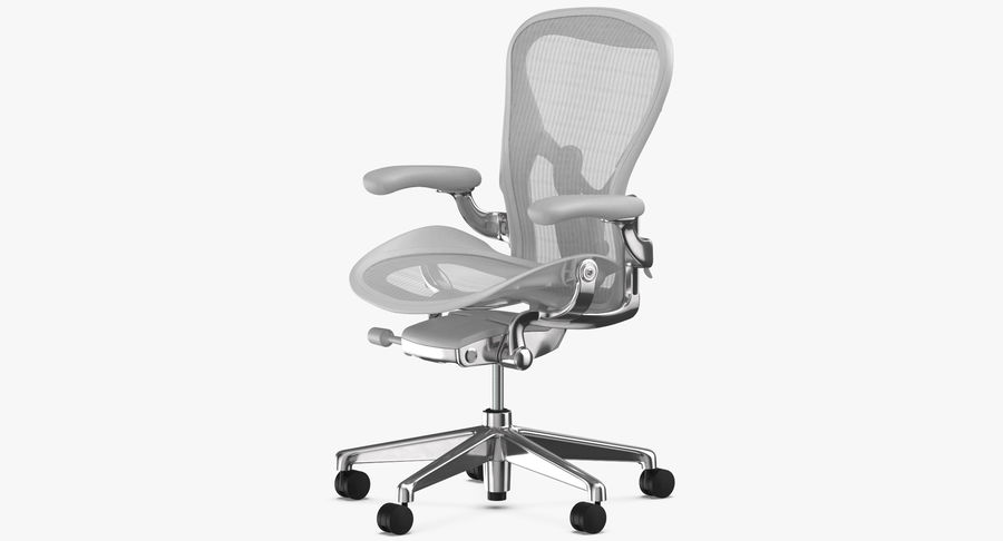 Chaise Herman Miller Aeron - 03 royalty-free 3d model - Preview no. 4