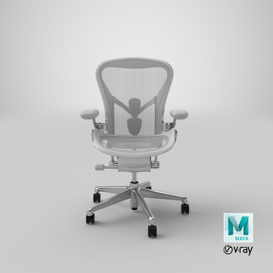 Chaise Herman Miller Aeron - 03 royalty-free 3d model - Preview no. 20