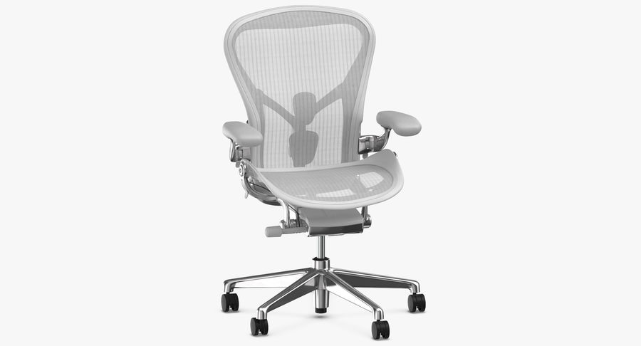 Chaise Herman Miller Aeron - 03 royalty-free 3d model - Preview no. 3