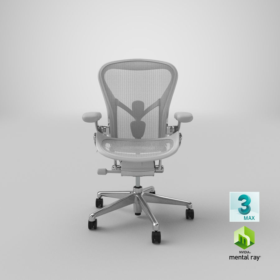 Chaise Herman Miller Aeron - 03 royalty-free 3d model - Preview no. 23