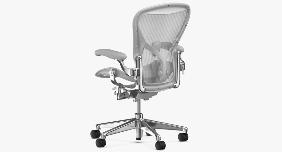 Chaise Herman Miller Aeron - 03 royalty-free 3d model - Preview no. 7
