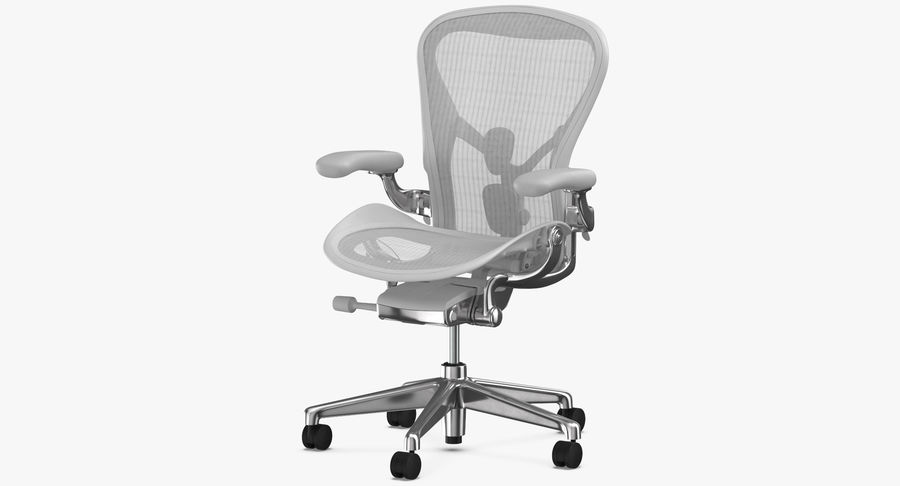 Chaise Herman Miller Aeron - 03 royalty-free 3d model - Preview no. 5