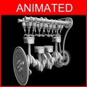 animação do motor 3d model