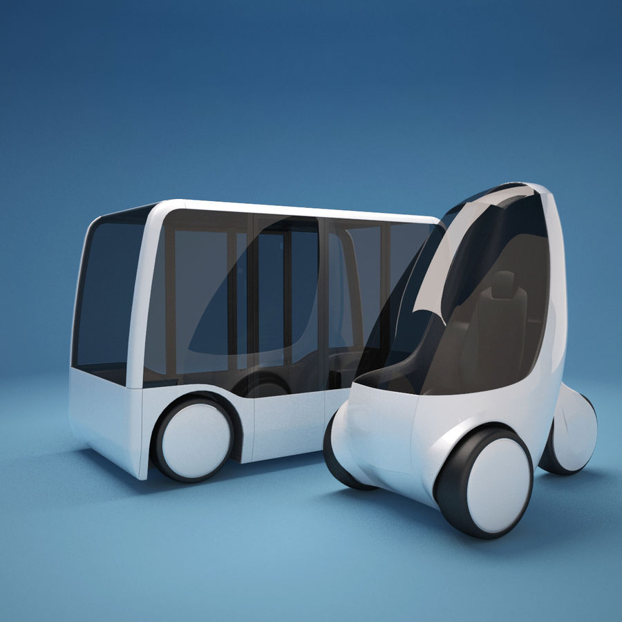 Future Concept City Vehicles royalty-free 3d model - Preview no. 2