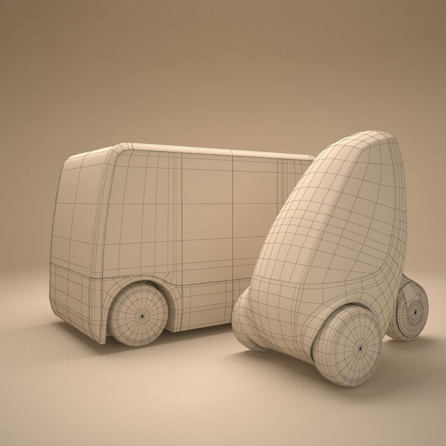 Future Concept City Vehicles royalty-free 3d model - Preview no. 5