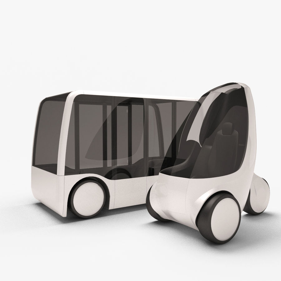 Future Concept City Vehicles royalty-free 3d model - Preview no. 1