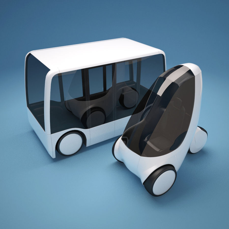 Future Concept City Vehicles royalty-free 3d model - Preview no. 3