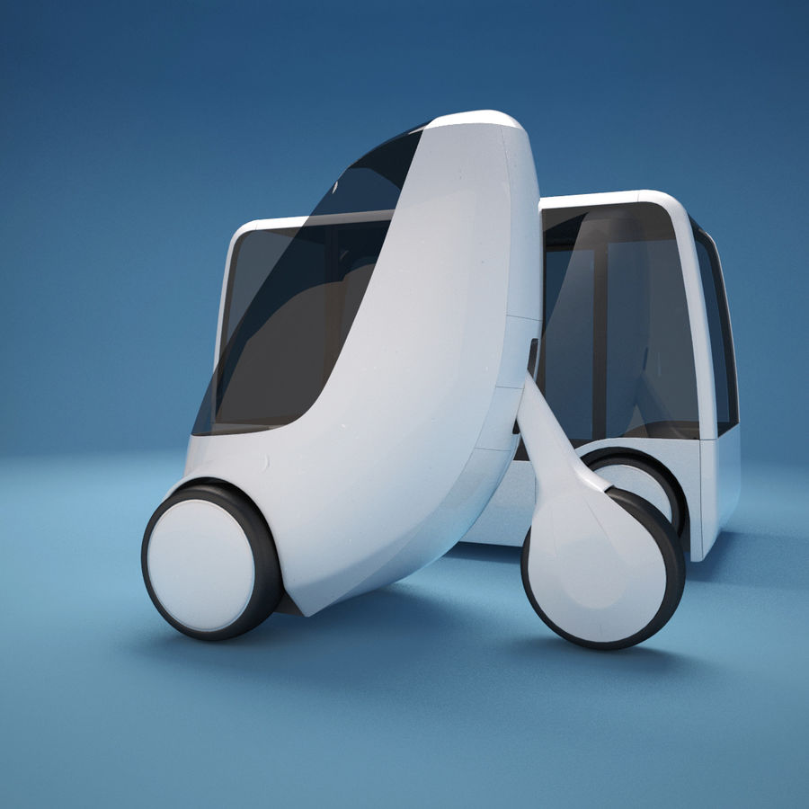 Future Concept City Vehicles royalty-free 3d model - Preview no. 4