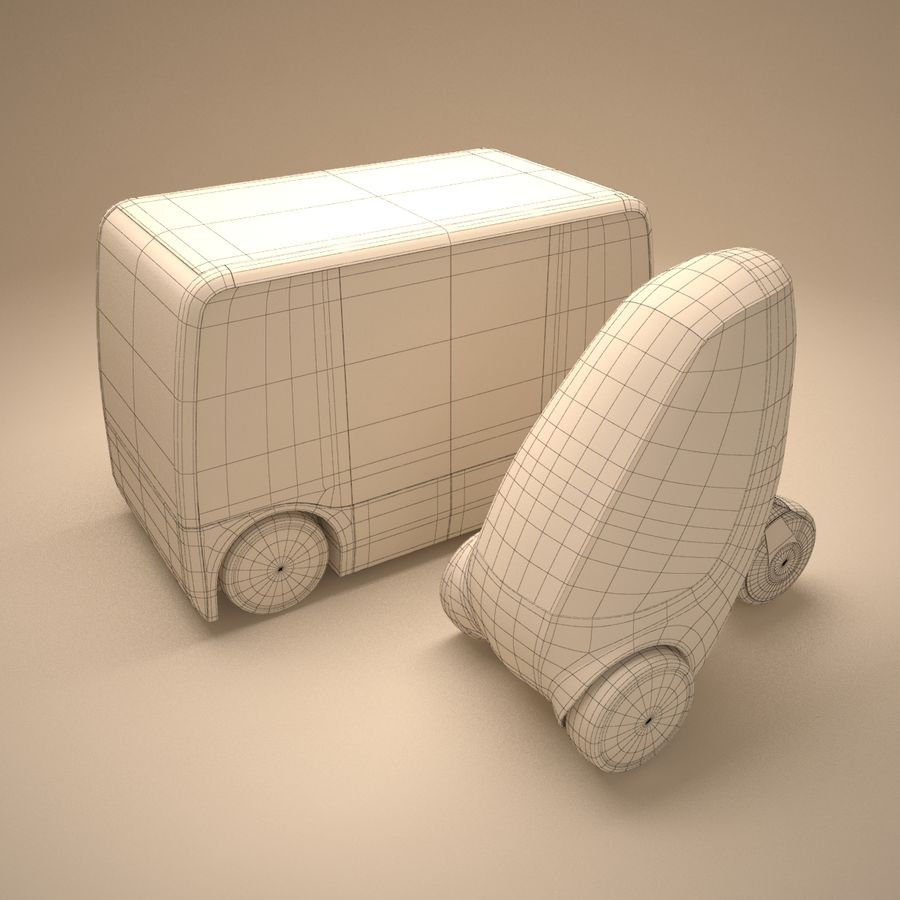 Future Concept City Vehicles royalty-free 3d model - Preview no. 6