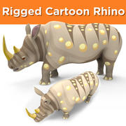 Cartoon Rhino Rigged 3d model