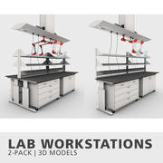 Laboratory Workstations Collection 3d model