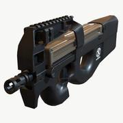 P90 (Triple A) Low Poly PBR 3d model