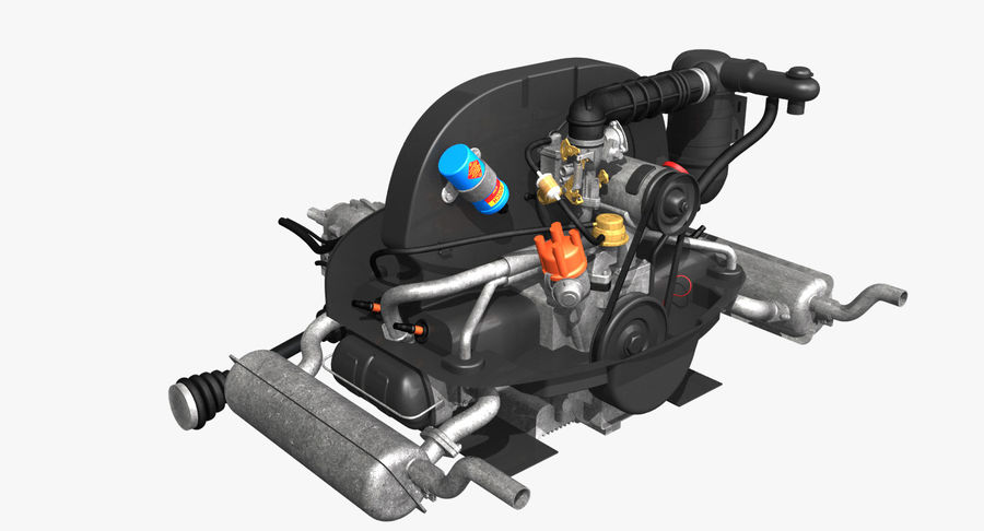 VW Engine 3D Model $89 - .obj .lwo .3ds - Free3DFree 3D