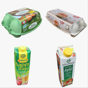 Mat & dryck kartongsamling 01 3d model
