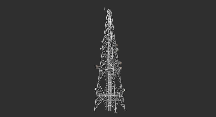 Telecommunication Tower royalty-free 3d model - Preview no. 12
