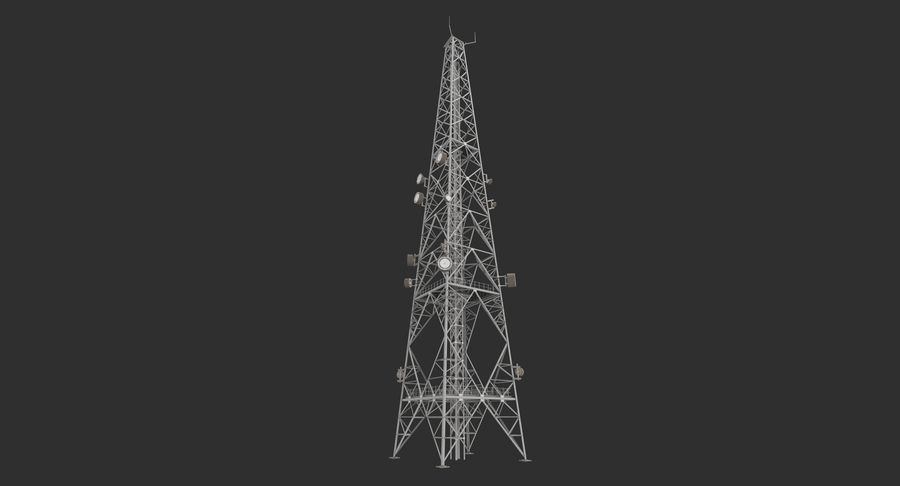 Telecommunication Tower royalty-free 3d model - Preview no. 3