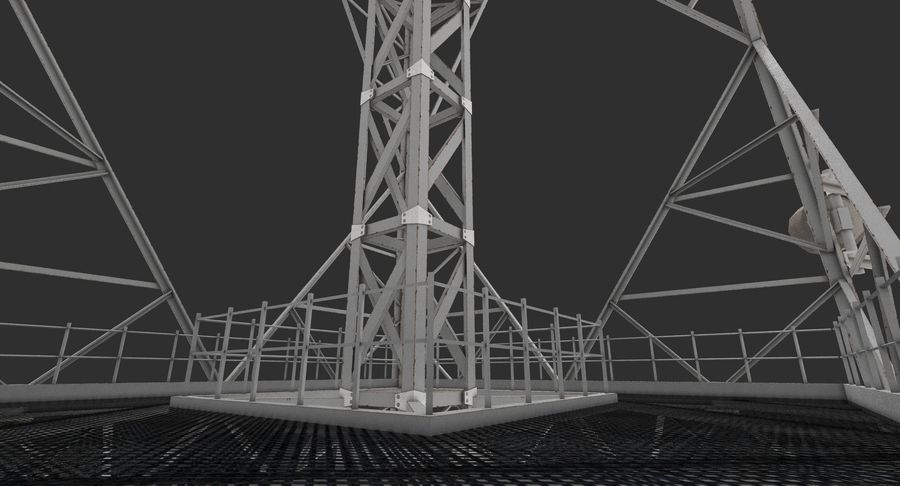 Telecommunication Tower royalty-free 3d model - Preview no. 9