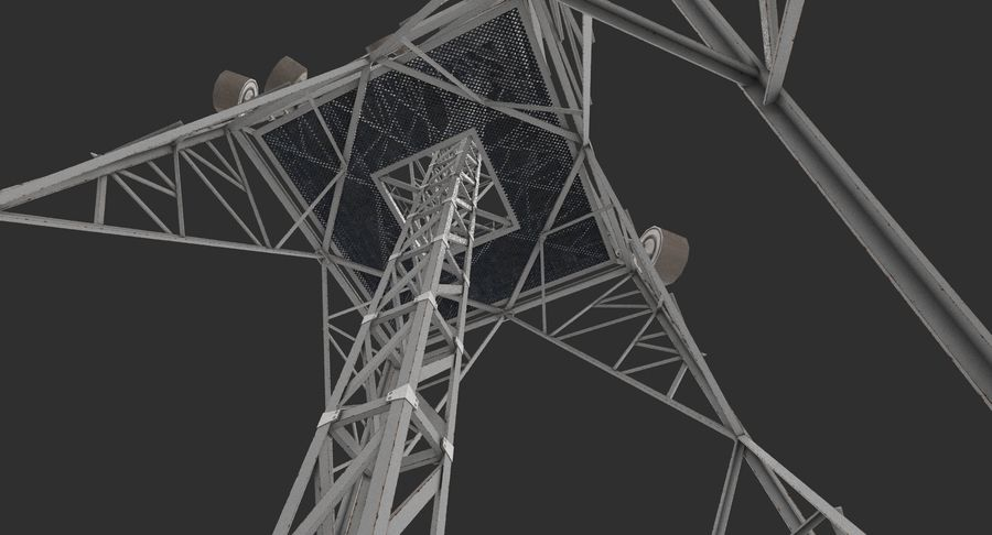 Telecommunication Tower royalty-free 3d model - Preview no. 10