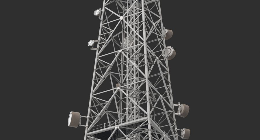 Telecommunication Tower royalty-free 3d model - Preview no. 5