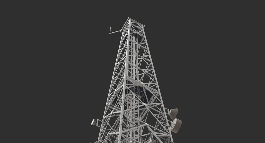 Telecommunication Tower royalty-free 3d model - Preview no. 6