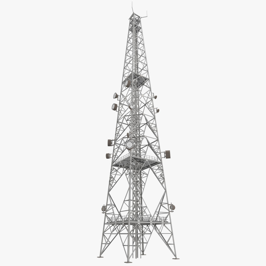 Telecommunication Tower royalty-free 3d model - Preview no. 1