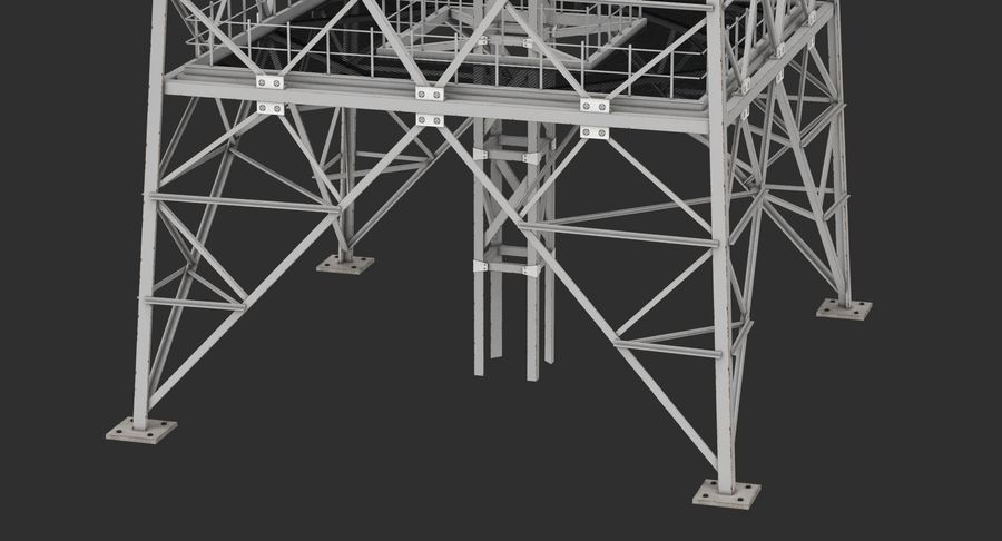 Telecommunication Tower royalty-free 3d model - Preview no. 4