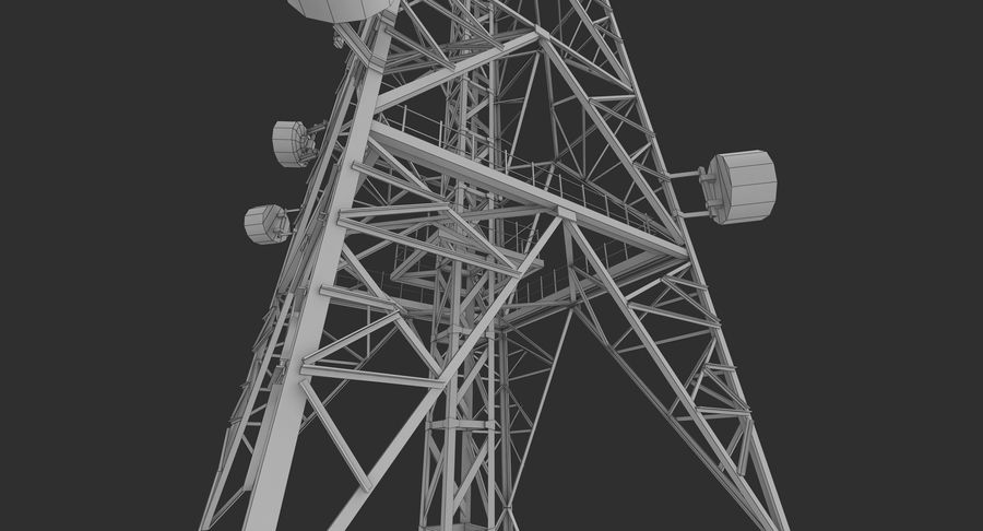 Telecommunication Tower royalty-free 3d model - Preview no. 14