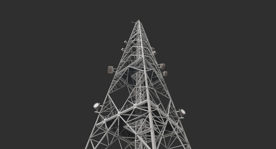 Telecommunication Tower royalty-free 3d model - Preview no. 7
