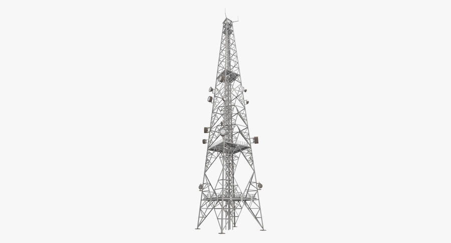 Telecommunication Tower royalty-free 3d model - Preview no. 2